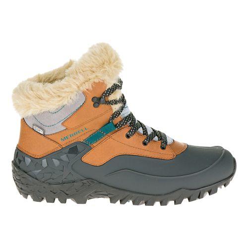 Womens Merrell Fluorecein Thermo 6 Waterproof Hiking Shoe - Brown Sugar 10