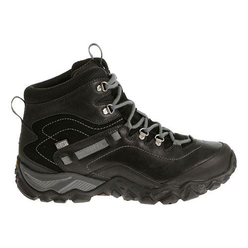 Womens Merrell Chameleon Shift Traveler Mid Waterproof Hiking Shoe - Black 10