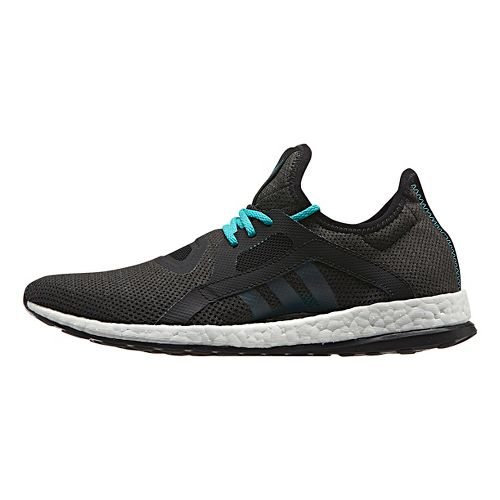 Womens adidas Pure Boost X Running Shoe - Black/Shock Green 10.5