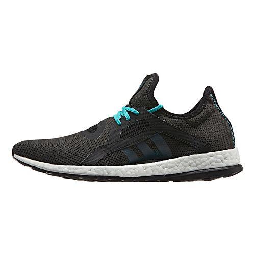 Womens adidas Pure Boost X Running Shoe - Black/Shock Green 9