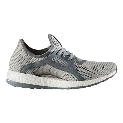 Womens adidas Pure Boost X Running Shoe - Grey/Silver 5.5