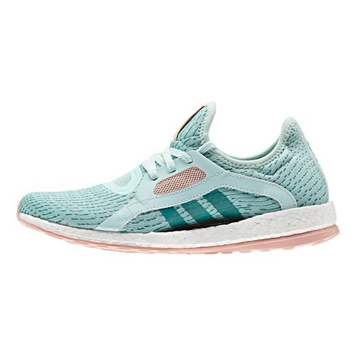 Womens adidas Pure Boost X Running Shoe - Mint/Steel/Pink 7.5