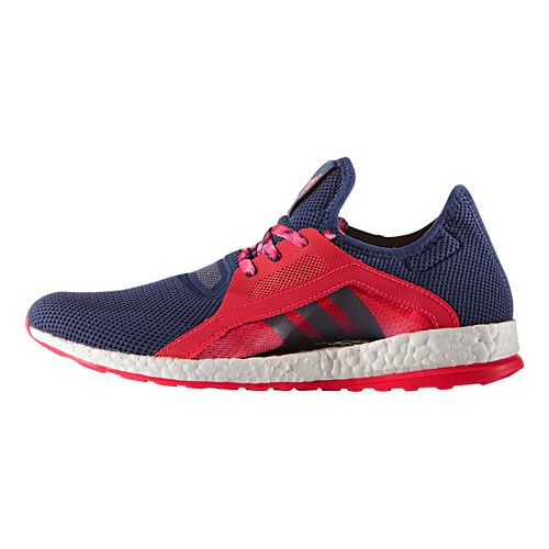 Womens adidas Pure Boost X Running Shoe - Navy/Pink 9.5