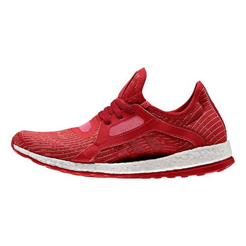 Womens adidas Pure Boost X Running Shoe - Red/Pink 10.5