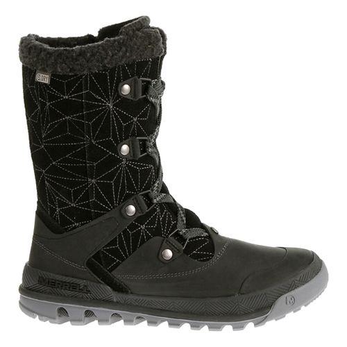 Womens Merrell Silversun Lace Waterproof Casual Shoe - Black 8