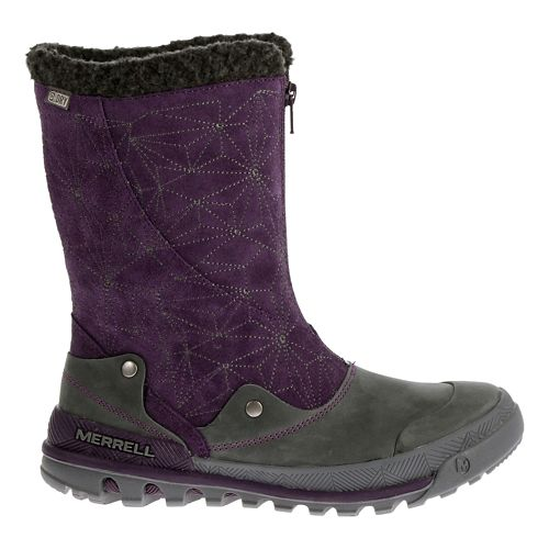 Womens Merrell Silversun Zip Waterproof Casual Shoe - Wild Plum 11
