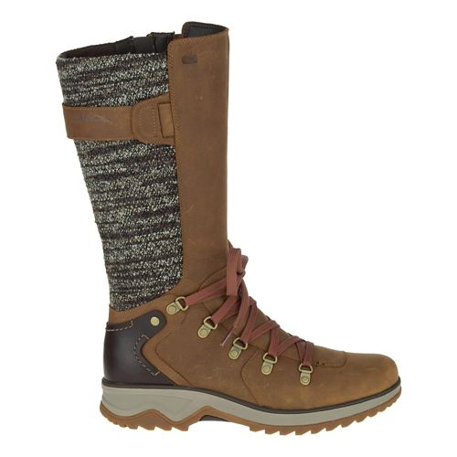 Womens Merrell Eventyr Peak Waterproof Casual Shoe - Merrell Tan 8.5
