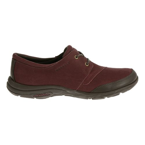 Womens Merrell Dassie Tie Casual Shoe - Deep Red/Espresso 5.5