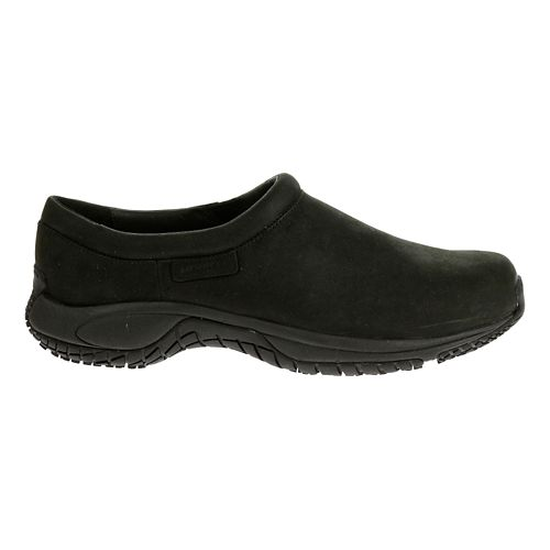 Mens Merrell Encore Moc Pro Grip Nubuck Casual Shoe - Black Nubuck 7