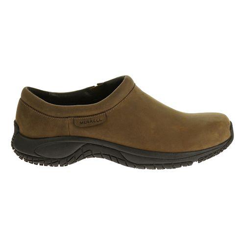 Mens Merrell Encore Moc Pro Grip Nubuck Casual Shoe - Brown 9