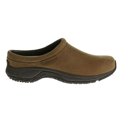 Mens Merrell Encore Slide Pro Grip Nubuck Casual Shoe - Brown 8.5