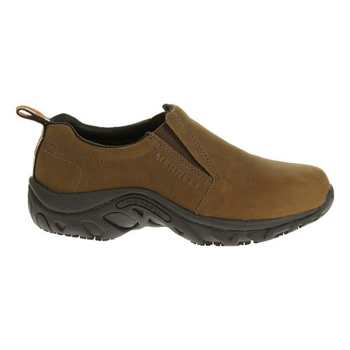 Mens Merrell Jungle Moc Pro Grip Nubuck Casual Shoe - Brown 12