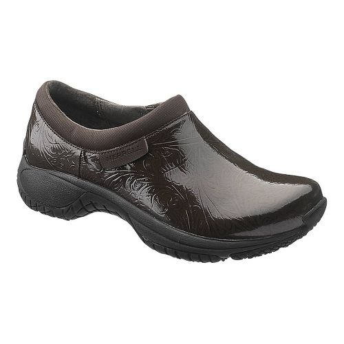 Womens Merrell Encore Moc Pro Lab Casual Shoe - Brown 10