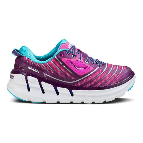 Womens Hoka One One Vanquish Running Shoe - Plum/Fuchsia 7.5