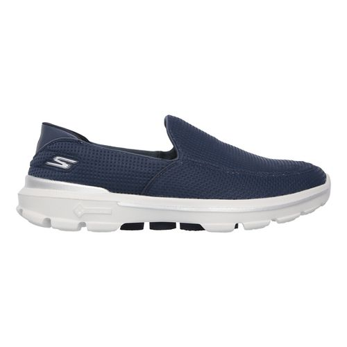 Mens Skechers GO Walk 3 Unfold Casual Shoe - Navy 11.5