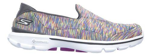 Womens Skechers GO Walk 3 Crazed Casual Shoe - Multicolor 7