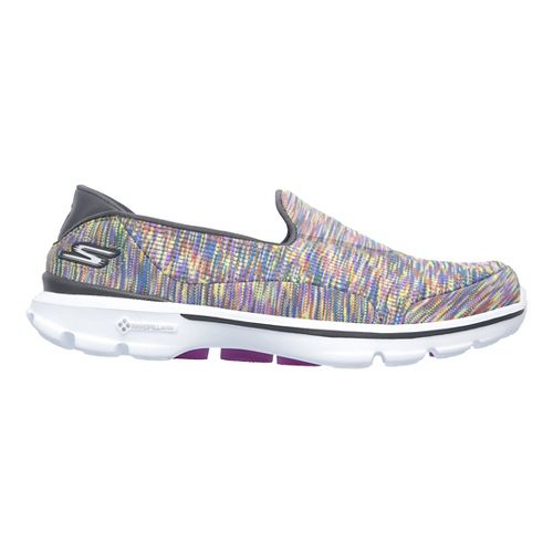 Womens Skechers GO Walk 3 Crazed Casual Shoe - Multicolor 9.5