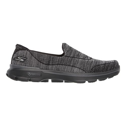Womens Skechers GO Walk 3 Super Sock 3 Casual Shoe - Black 8.5