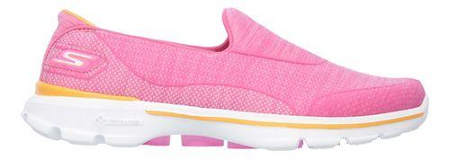 Womens Skechers GO Walk 3 Super Sock 3 Casual Shoe - Hot Pink 10