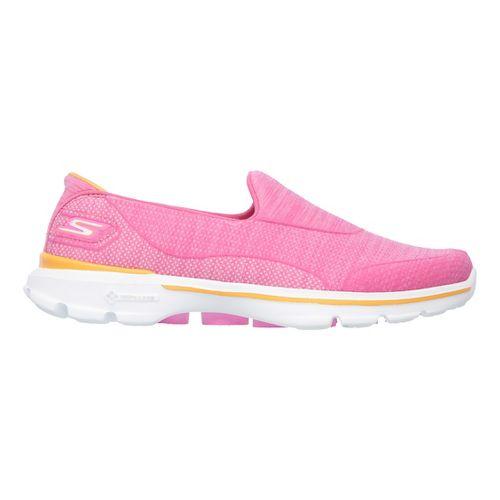 Womens Skechers GO Walk 3 Super Sock 3 Casual Shoe - Hot Pink 8
