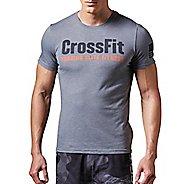 Mens Reebok CrossFit FEF Tee Short Sleeve Technical Tops