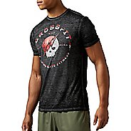 Mens Reebok CrossFit Skull Tee Short Sleeve Technical Tops