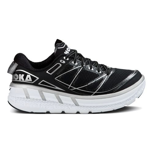 Womens Hoka One One Odyssey Running Shoe - Black/Silver 7