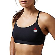 Womens Reebok CrossFit Skinny Solid Sports Bra