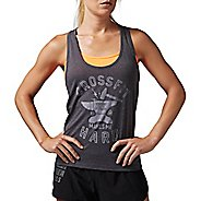 Womens Reebok CrossFit Graphic Sleeveless & Tank Technical Tops