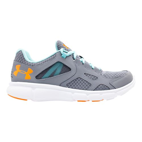Womens Under Armour Thrill Running Shoe - Steel/Veneer 10