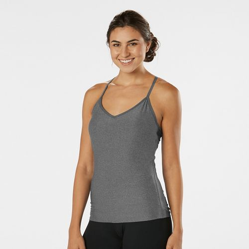 Womens R-Gear Back to Basics Cami Sport Tops Bras - Heather Grey Mist L