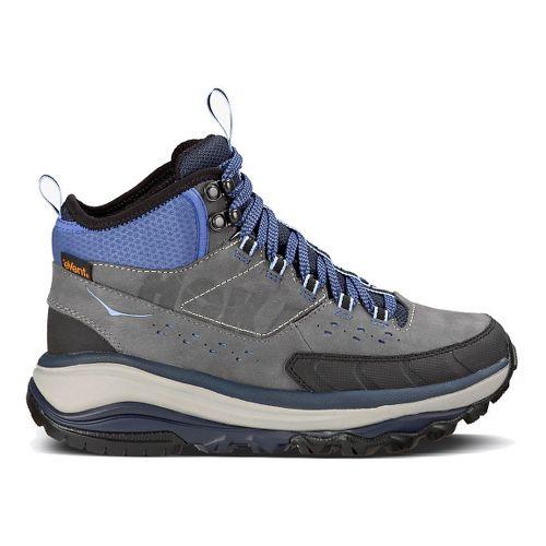 Womens Hoka One One TOR Summit Mid WP Hiking Shoe - Steel Grey/Hydrangea 7.5
