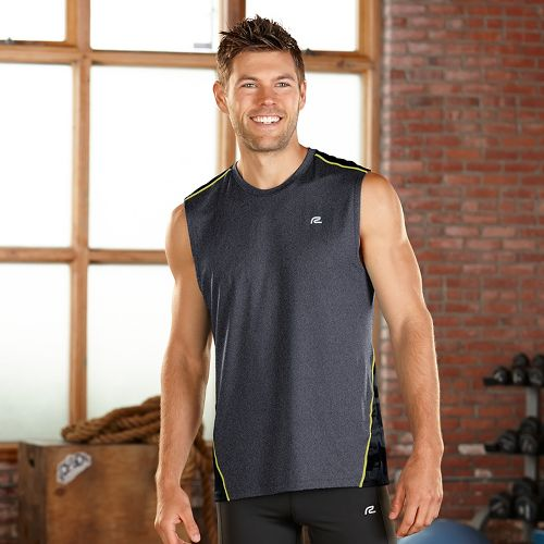 Mens R-Gear Out of Sight Sleeveless & Tank Technical Tops - Heather Charcoal S