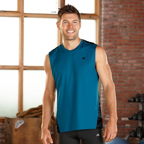 Mens R-Gear Out of Sight Sleeveless & Tank Technical Tops - Tempo Teal XXL