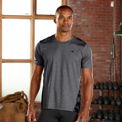 Mens R-Gear Out of Sight Short Sleeve Technical Tops - Heather Charcoal S