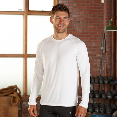 Mens R-Gear Back to Basics UPF Base Layer Long Sleeve Technical Tops - White L ...