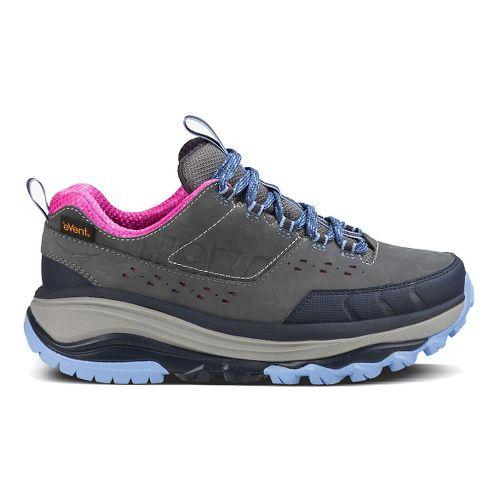 Womens Hoka One One TOR Summit WP Hiking Shoe - Steel Grey/Hydrangea 10