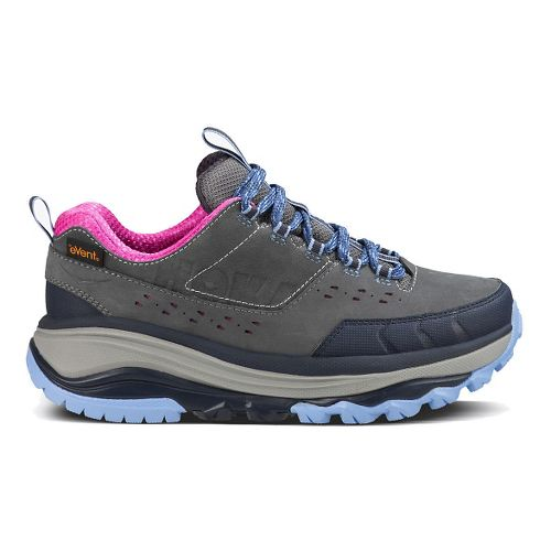 Womens Hoka One One TOR Summit WP Hiking Shoe - Steel Grey/Hydrangea 10.5