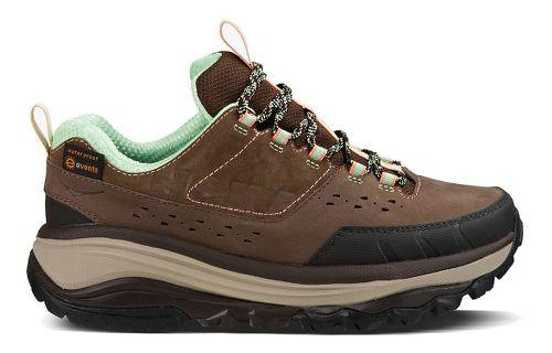 Womens Hoka One One TOR Summit WP Hiking Shoe - Brown/Patina Green 6