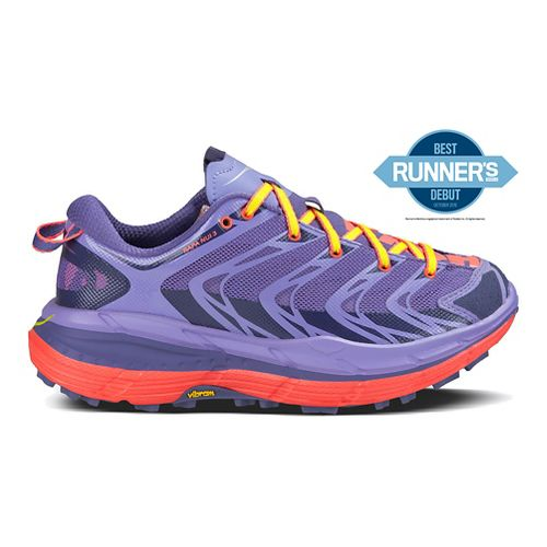 Womens Hoka One One Speedgoat Trail Running Shoe - Corsican Blue/Coral 5