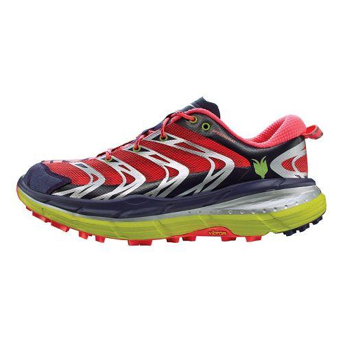 Womens Hoka One One Speedgoat Running Shoe - Aura/Neon Pink 10