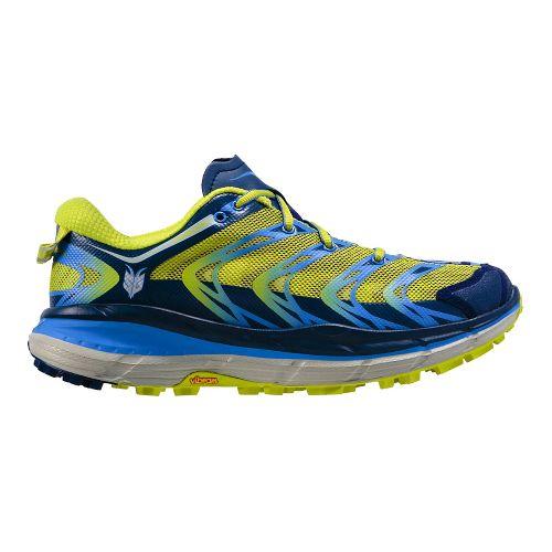 Womens Hoka One One Speedgoat Trail Running Shoe - Blue/Green 9