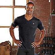Mens R-Gear Afterburn V-Neck Short Sleeve Technical Tops - Charcoal S