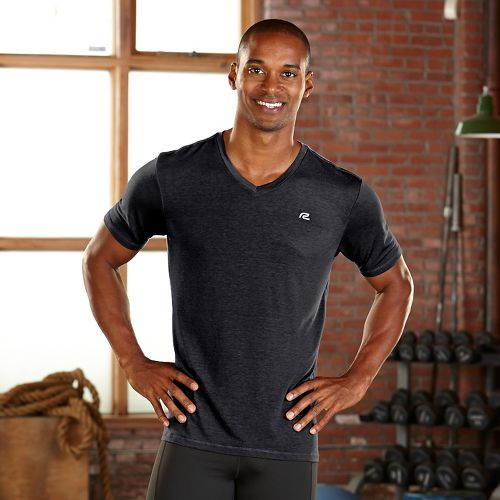 Mens R-Gear Afterburn V-Neck Short Sleeve Technical Tops - Charcoal L