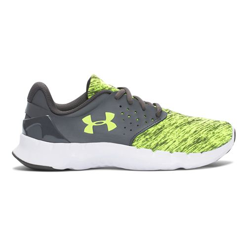 Under Armour Boys BGS Flow RN Twist Running Shoe - Yellow/Charcoal 7Y