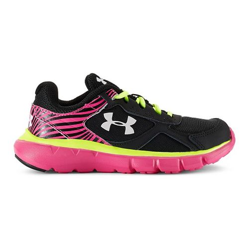 Kids Under Armour Velocity RN Running Shoe - Black/Rebel Pink 13.5C