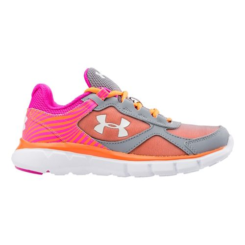 Kids Under Armour Velocity RN Running Shoe - Steel/Rebel Pink 12.5C