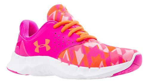 Kids Under Armour Flow RN GR Running Shoe - Pink/After Burn 4Y