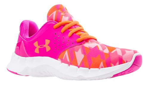 Kids Under Armour Flow RN GR Running Shoe - Pink/After Burn 5.5Y