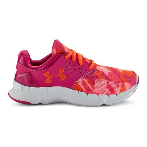 Kids Under Armour Flow RN GR Running Shoe - Pink/After Burn 3Y
